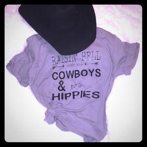 Cowboys and hippies teeshirt various sz and color